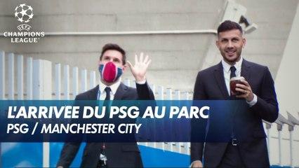 L'arrivée des joueurs du PSG au Parc des Princes