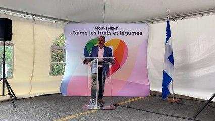 Le député de La Prairie remercie le Complexe le Partage (Le Reflet - Guillaume Gervais)