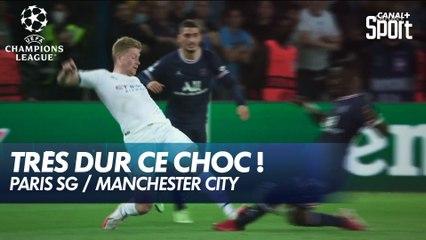 Énorme tacle de Kevin de Bruyne sur Idrissa Gueye ! - PSG / Manchester City