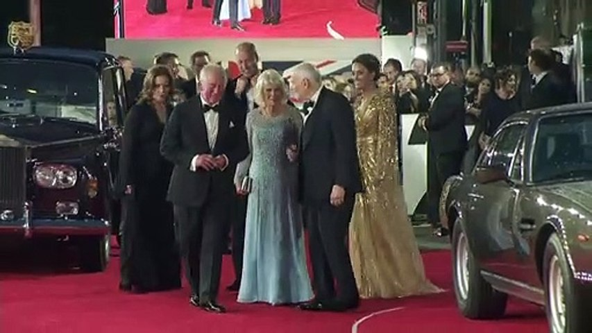 Royals make rare joint appearance at No Time To Die premiere