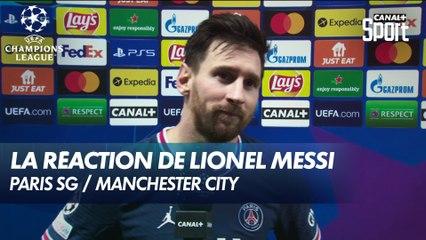La réaction de Messi après la victoire du PSG (2-0) - Paris SG / Man. City