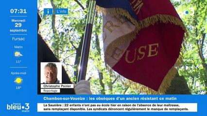 29/09/2021 - Le 6/9 de France Bleu Creuse en vidéo