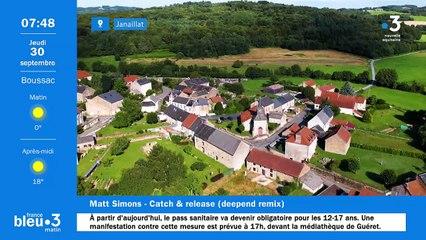 30/09/2021 - Le 6/9 de France Bleu Creuse en vidéo