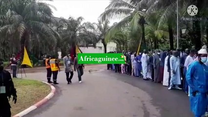 Serment de Mamadi Doumbouya :  arrivée des invités