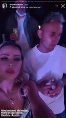 Keylor Navas y Andrea Salas en el concierto de Camilo