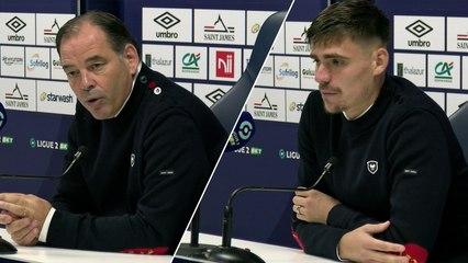 J11 Ligue 2 BKT : Les réactions de S.Moulin et J.Deminguet après SMCaen 1-2 Valenciennes FC
