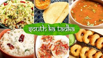 South Ka Tadka   Uttappam   Vada   Dosa   Rasam   Lemon Rice   South Indian Popular Recipes