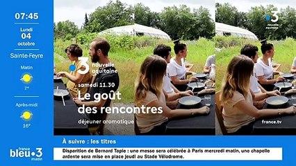 04/10/2021 - Le 6/9 de France Bleu Creuse en vidéo