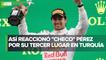 Checo Pérez sube al podio en el GP de Turquía; termina en tercer lugar