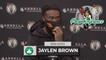 Jaylen Brown Says His Wrist Feels 80-85% | Postgame Interview 10-4
