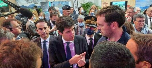 """""""Le donneur d'ordre à la fin, c'est le consommateur"""" pour Julien Denormandie en visite au Sommet de l'élevage"""