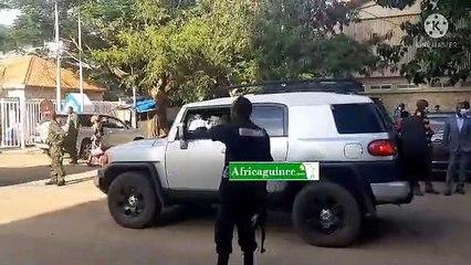 Arrivée de Ousmane Gaoual Diallo au Qg du CNRD