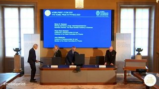 Nobel de Física 2021 para científicos del clima y la mecánica estadística