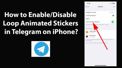 How to Enable or Disable Loop Animated Stickers in Telegram on iPhone?