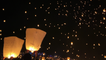 'People release hundreds of lanterns into the sky while attending 'The Lights' Festival'