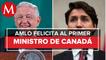 AMLO felicita a Justin Trudeau por reelección como primer ministro de Canadá
