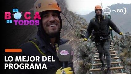 En Boca de Todos: Gino Assereto superó su miedo a las alturas en Cusco (HOY)