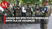 Arriban 500 soldados y policías estatales para pacificar el oriente de Michoacán