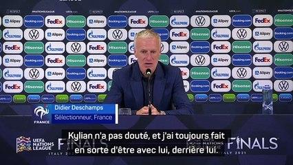 """Deschamps : """"l'Equipe de France est plus forte avec Kylian Mbappé"""""""