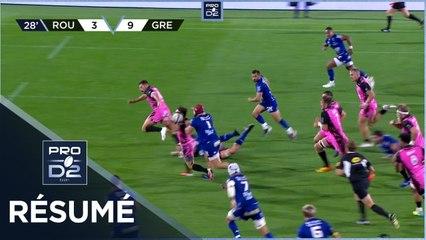 PRO D2 - Résumé Rouen Normandie Rugby-FC Grenoble Rugby: 16-21 - J06 - Saison 2021/2022