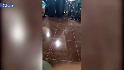 موظف شبيح يهدد سيدة في دوما