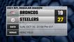 Broncos @ Steelers Game Recap for SUN, OCT 10 - 01:00 PM EST