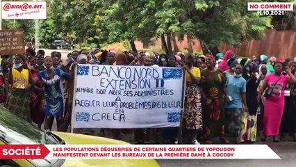 Société : Les populations déguerpies de certains quartiers de Yopougon manifestent devant les bureaux de la première dame à Cocody