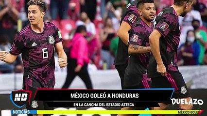 México venció a Honduras en el Estadio Azteca