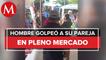 Hombre golpea a mujer en tianguis de Veracruz (1)