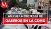 Gaseros acusan agresiones de SSC durante protesta en CdMx; amagan con mantener bloqueos