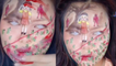 'Fan draws Squid Game characters on her face '