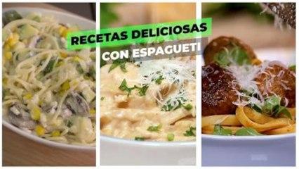 Recetas deliciosas con espagueti | Cocina Delirante