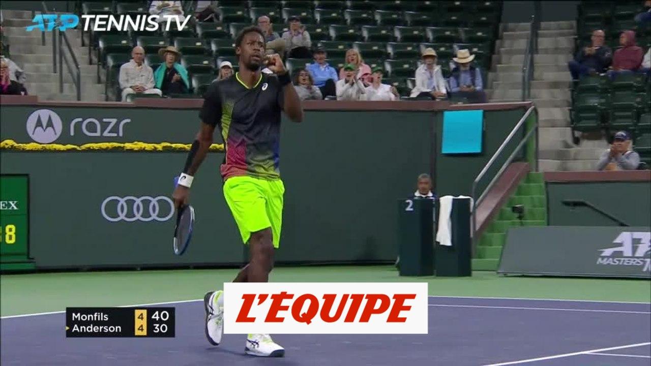 Monfils rejoint Zverev en 8es - <b>Tennis</b> - <b>ATP</b> - Indian Wells - Vidéo Dailymotion