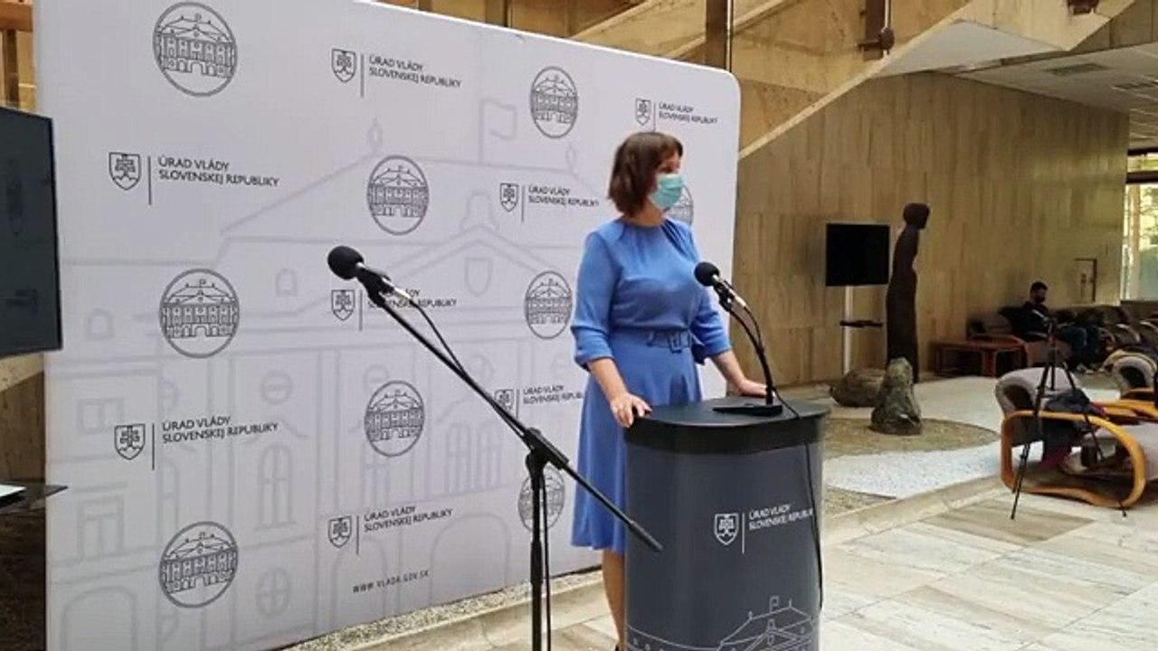 ZÁZNAM: Brífing podpredsedníčky Vlády SR V. Remišovej k rokovaniam tripartity o rozpočte