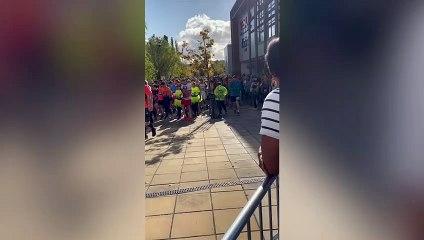 Ryan Jones runs Manchester Marathon in full fire fighting gear