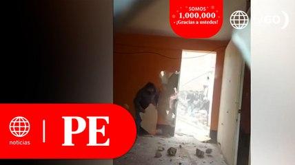 Jicamarca: Batalla campal por disputa de vivienda   Primera Edición