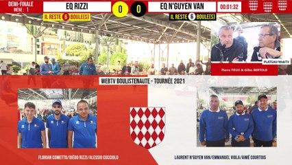 Demi-finale passionnante ITALIE vs Eq N'GUYEN VAN : International à pétanque de Monaco - 10 octobre 2021