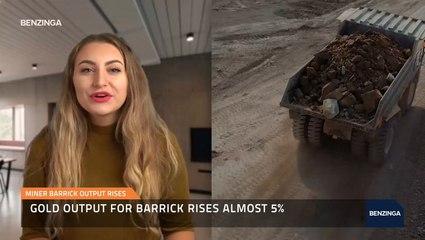 Miner Barrick Output Rises