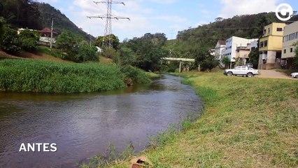 Rio Santa Maria - Antes e depois