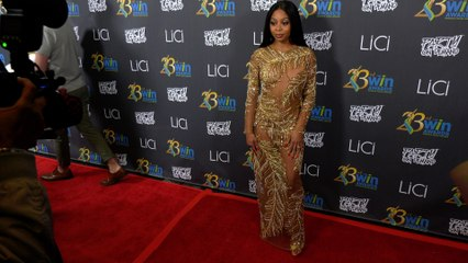 Bresha Webb attends the 23rd Women's Image Awards red carpet in Los Angeles