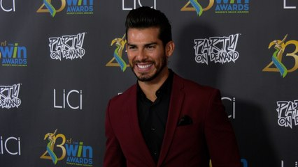 Angel Garet attends the 23rd Women's Image Awards red carpet in Los Angeles
