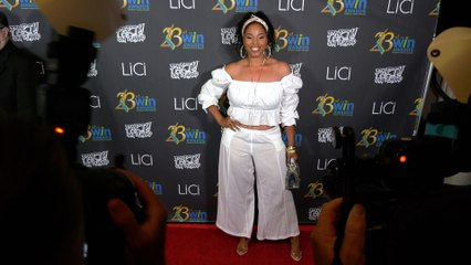 Lolly White attends the 23rd Women's Image Awards red carpet in Los Angeles