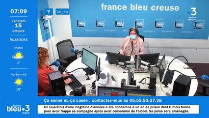 15/10/2021 - Le 6/9 de France Bleu Creuse en vidéo