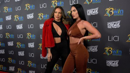 Liz Holtz, Cinee Goudaillier attend the 23rd Women's Image Awards red carpet in Los Angeles