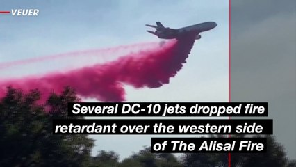 Several Jets and Hundreds of Firefighters Battle the Alisal Fire in California
