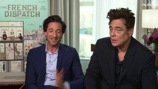 The French Dispatch: Andrien Brody & Benicio del Toro Interview Englisch English (2021)
