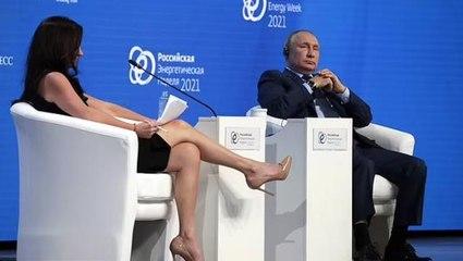 Rus televizyonundan Putin'in karsna oturan ABD'li gazeteciye tepki: Bacaklaryla ne yapyor?