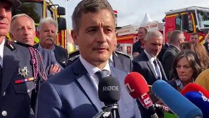 Gérald Darmanin en visite au congrès national des sapeurs-pompiers de France à Marseille
