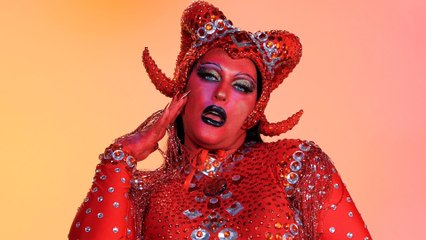 Pietra Parker as a Red Devil for Halloween   Cosmo Queens