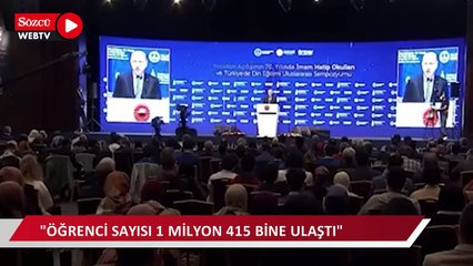 Erdoğan: İmam hatipler, bu ülkede demokrasinin standardını gösteren bir mihenk taşı olmuştur